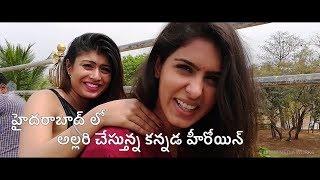 omme-nishabda-omme-yuddha-kanada-movie-making--1-samyuktha-hegde-prabhu-sushmitha