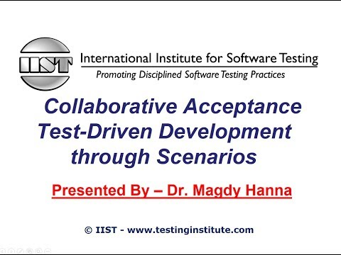 Software Testing Training | Collaborative Acceptance Test-Driven Development through Scenarios