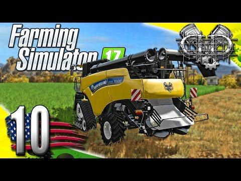 Farming Simulator 2017 Gameplay :EP10: Custom DieselDesigns New Holland! (PC HD American Outback)