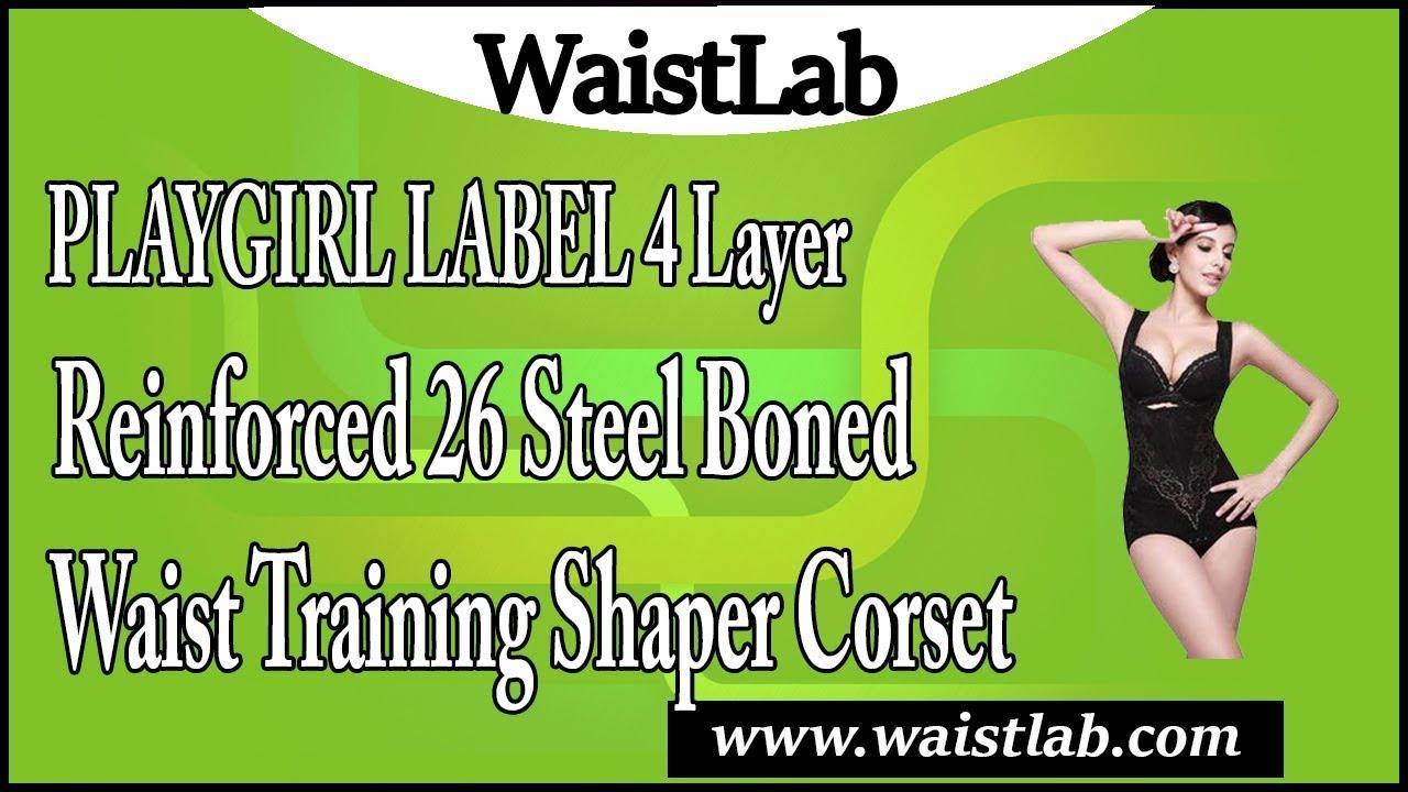 Playgirl Label 4 Layer Reinforced 26 Steel Boned Waist Training Shaper Corset