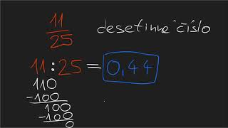 Převod zlomku na desetinné číslo: 11/25 | Desetinná čísla | Matematika | Khan Academy