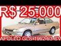 PASTORE R$ 25.000 Volkswagen Apollo GLS 1992 Dourado aro 14 MT5 FWD 1.8 AP 93 cv 16 kgfm 171 kmh #VW