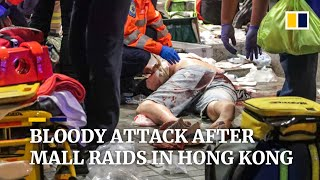 Bloody knife attack after mall raids in Hong Kong