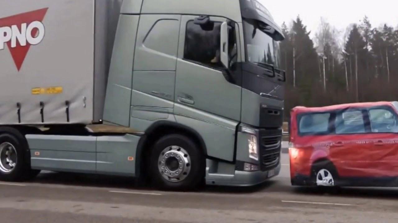 видео торможения торможения грузовика вольво