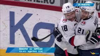 кХЛ / Йокерит  Торпедо: Обзор матча, прогноз (25.01.19)