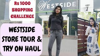 Westside Store Tour collection & Haul - Westside Rs 1000 Shopping Challenge | AdityIyer #adityvlogs