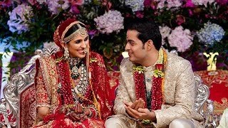 Akash Ambani-Shloka take \'pheras\', Mrs Mehta gets emotional