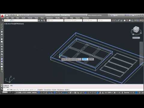 Autocad how to making 3d door design tutorial youtube for Door design autocad