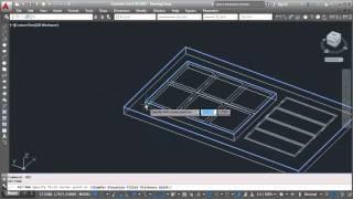 AutoCAD How To Making 3D Door Design Tutorial