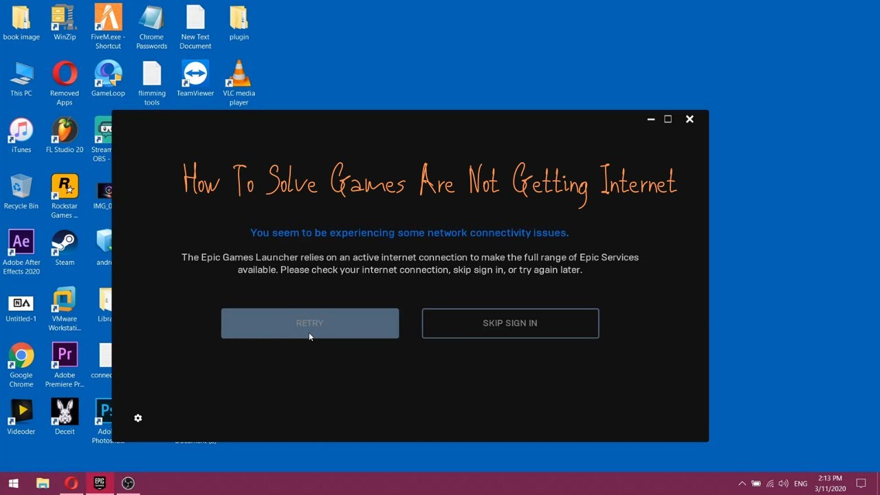 foto de How To Solve Games Are Not Getting Internet - YouTube