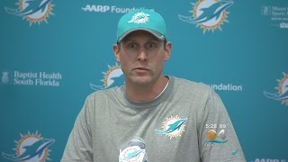 With Training Camp Days Away, Dolphins Coach Adam Gase Speaks To Media