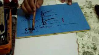 calligraphy lacture raa by world famous calligraphest khurshid gohar qalam.mp4