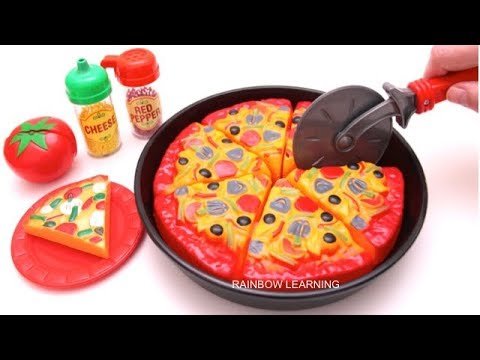 Toy Velcro Cutting Play Doh Pizza Microwave Toy Learn Fruits & Vegetables Toy Surprise