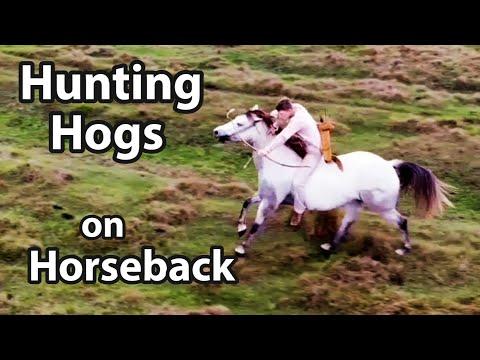 Hunting Hogs On Horseback