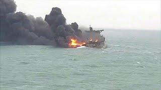 Families anguish as Iran tanker burns