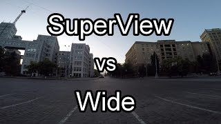 GoPro Hero4 1080p Superview vs Wide Comparison Test / GoPro Settings