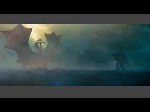 Download Ghidorah and Godzilla Antarctica Fight Scene
