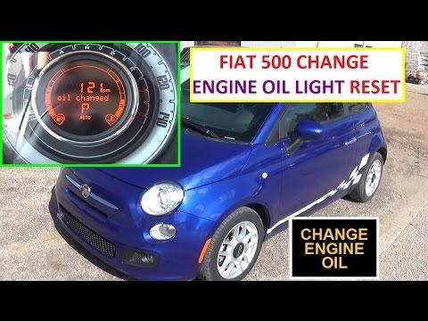 Change Engine Oil Light Reset on Fiat 500 in less than 1 MINUTE!