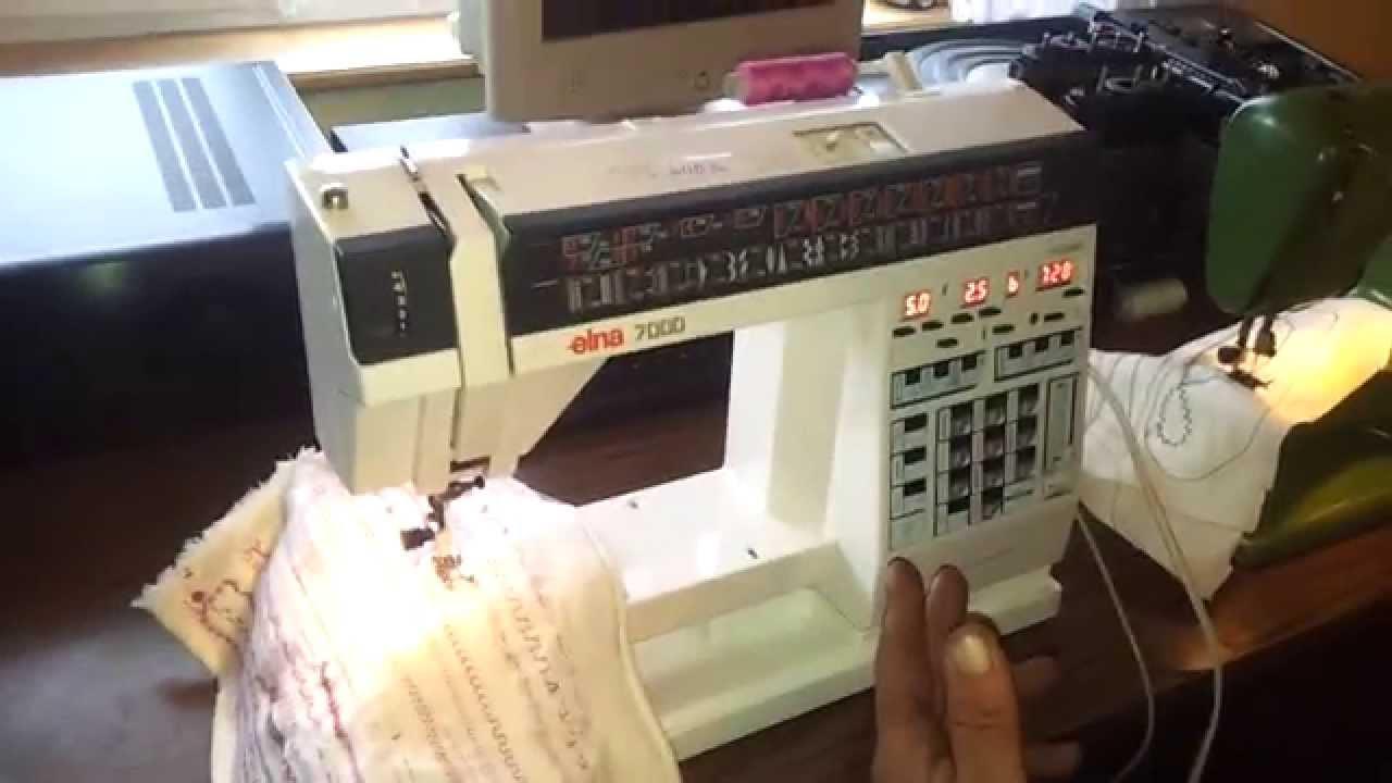 Elna 7000 Sewing Machine Test Youtube