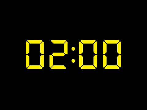 2 Minute Timer No Music with Alarm LCD 7 Segment Display Yellow