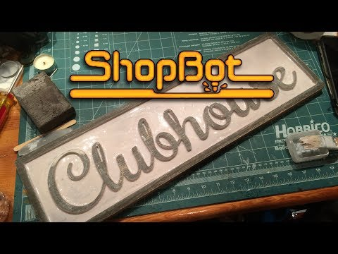 DIY Woodworking - Clubhouse Sign - Shopbot CNC Router