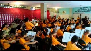 La Orquesta Nacional Juvenil Nucleo 23 de Enero Visita el Liceo Gustavo H. Machado