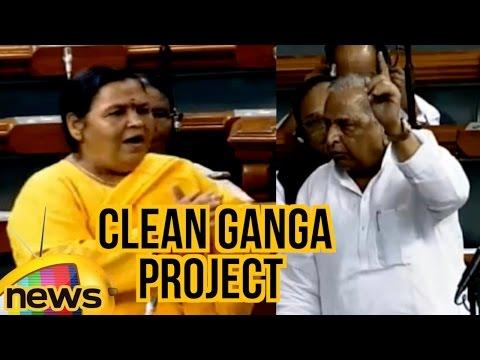 Mulayam Singh Yadav Vs Uma Bharti Over Clean Ganga Project | Lok Sabha | Mango News