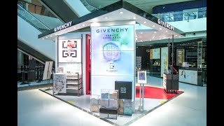 Givenchy Pop up Retailtainment at the Sanya International Duty Free Shopping Complex Hainan China