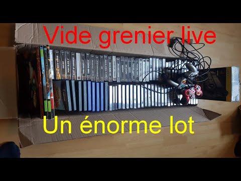 Vide grenier live - Un énorme lot Ps1 (70 jeux) et plusieurs rares ?!!!