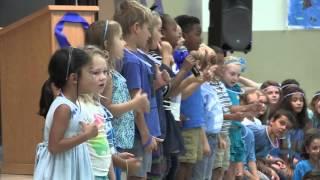 Kindergarteners sing at Jacksonville Beach Elementary