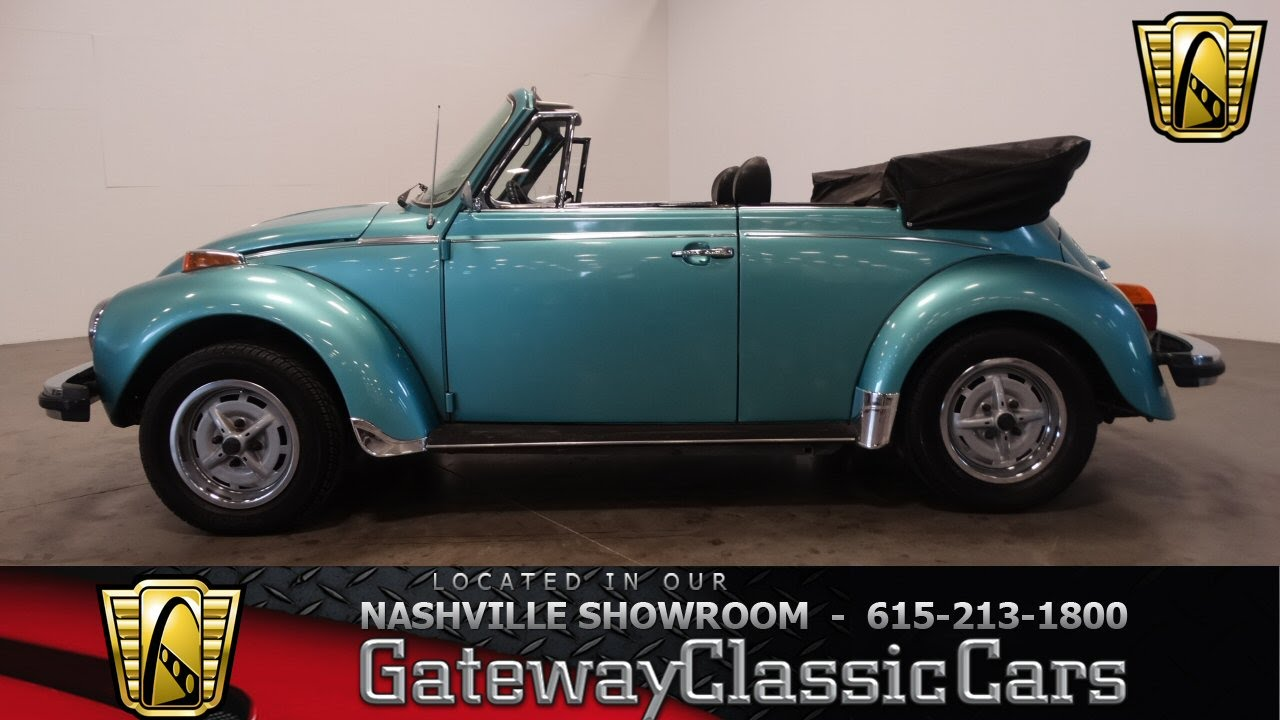 1979 Volkswagen Super Bettle Convertible Gateway Clic Cars Nashville 321