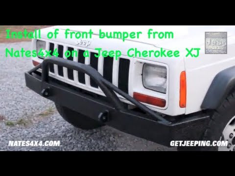 How To: Install of front bumper from Nates4x4 on a 1984 - 2001 Jeep Cherokee XJ - GetJeeping