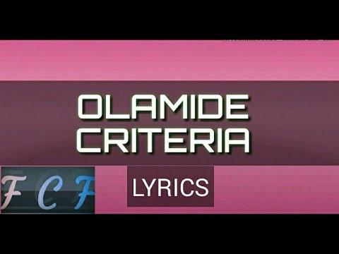Olamide -  criteria lyrics