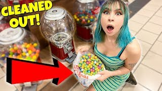 CLEANING OUT A GUMBALL MACHINE!!!