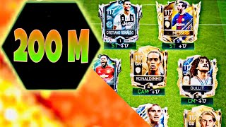 200 MILLION UPGRADE in fifa mobile ! My Biggest upgrades and rankups Ronaldo,Messi,Prime icons