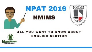 NPAT (NMIMS) 2019 - ENGLISH SECTION - ALL YOU WANT TO KNOW