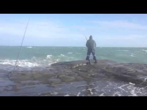 Fishing Muriwai Rock Dam Good Place
