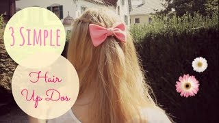 3 Simple 1/2 Up Do Hairstyles | xoxoviva Thumbnail