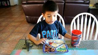 Grill Pork Spare Rib | Kid eating food | Khmer food | delicous food | Lunch food | Food for kids
