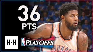 Paul George Full Game 1 Highlights Thunder vs Jazz 2018 Playoffs - 36 Points, 8 Threes!