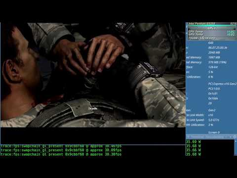 Splinter Cell Blacklist Test NVENC x64 + Sound (Pentium G3258) con el Wine 2.12 + Nvidia 384.47