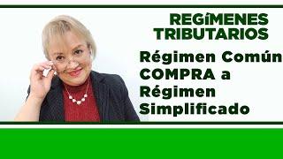 818. Régimen Común COMPRA a Régimen Simplificado