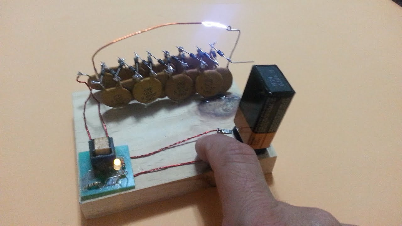 Electric Flyswatter With Voltage Multiplier YouTube