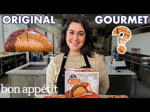 Pastry Chef Attempts to Make Gourmet Choco Tacos Part 1   Gourmet Makes   Bon Appétit