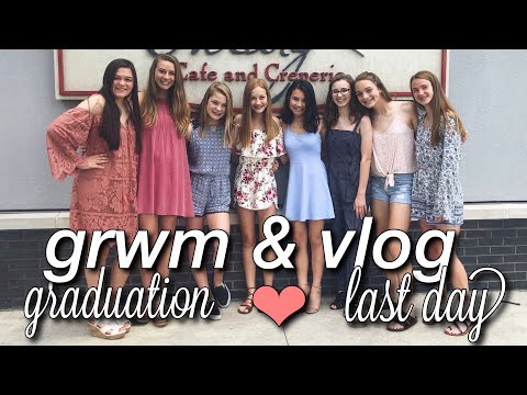 8TH GRADE GRADUATION GRWM + LAST DAY VLOG