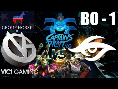 Team Secret vs VG - Captains Draft 4.0, Group HORSE, BO1 - Highlight!