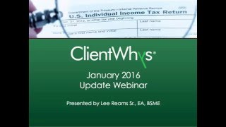 Protecting Americans from Tax Hikes Act of 2015 WebCast - 1 Hour CPE