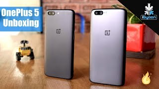 OnePlus 5 Unboxing : 6GB and 8GB RAM, Gray and Midnight Black Variants