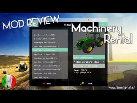 Machinery Rental (mod noleggio mezzi)| MOD REVIEW | #FI