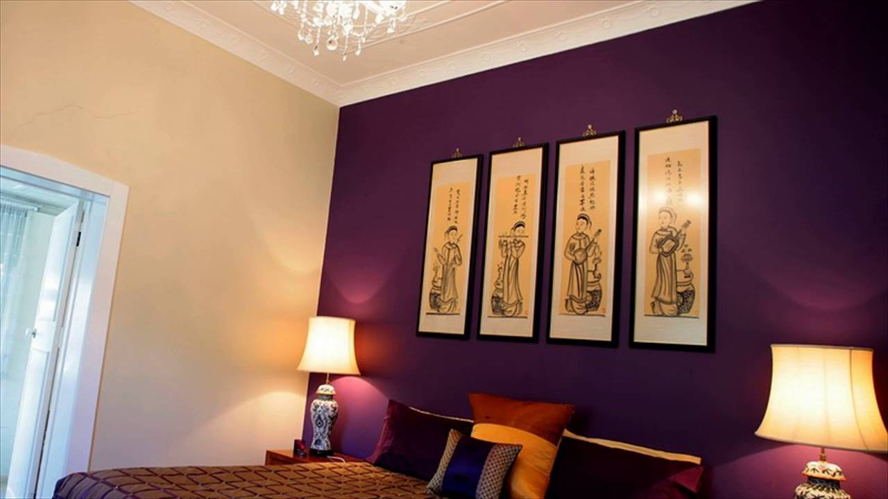 Bedroom Colors Purple - YouTube